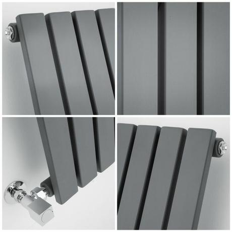 quad image of a small Milano Capri radiator