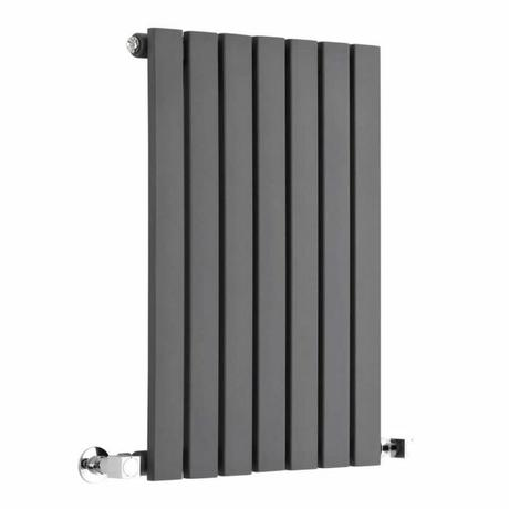 Milano Capri - Anthracite Horizontal Flat Panel Designer Radiator 635mm x 420mm