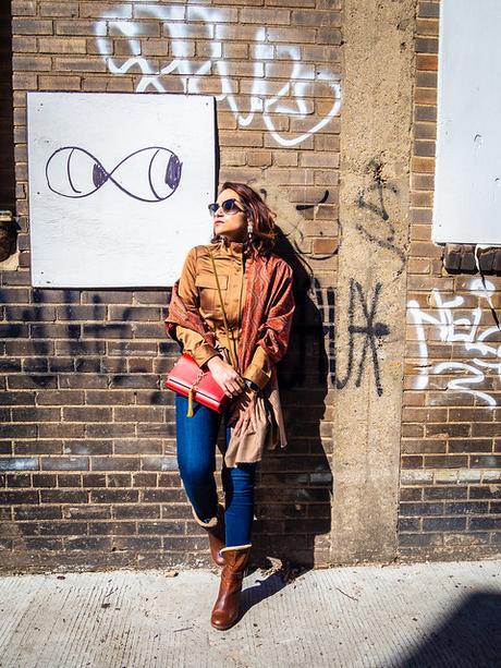 Chocolate Brown Safari Jacket and Shawl Tanvii.com