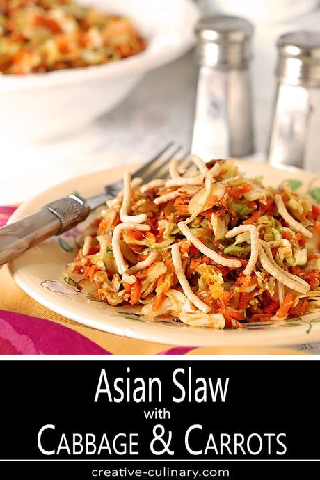 Asian Slaw with Almonds and Sunflower Seeds
