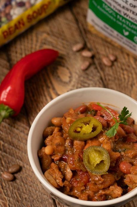 Smoky Vegan Cowboy Beans.