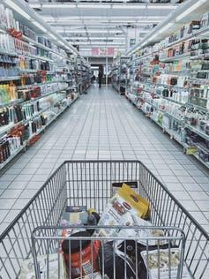 Stay home if you can. But if you use a shopping cart, wipe it down with disinfecting solution and clean your hands afterwards. (Pexels)