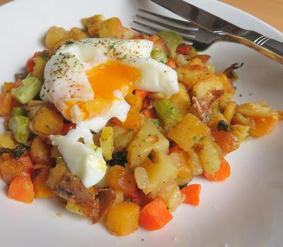Anything Hash & Perfectly Poached Eggs