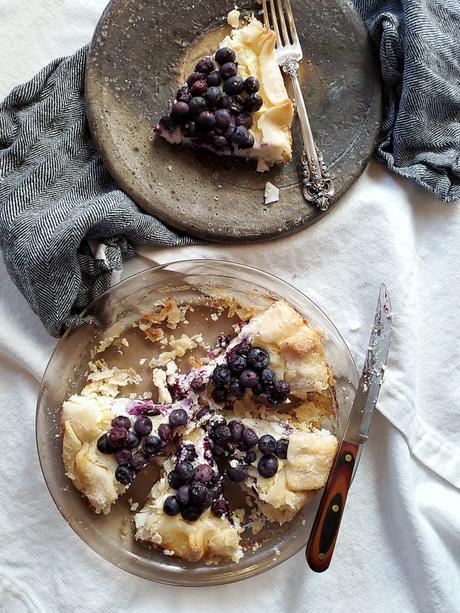 coconut yogurt blueberry pie