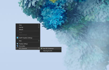 How to Add Sfc Scannow option in Context Menu in Windows 10