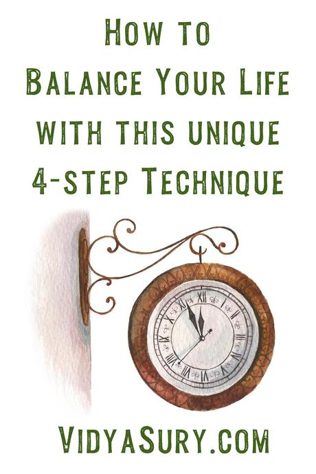 Balance your life with this superb 4-step technique