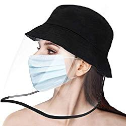 Image: Besince Fạce Shịeld with Flip-up Visor Anti-Saliva Droplets Hat, unisix Protective Hat, Eye Protection, Isolation Hood to Protect The Whole Fạce, Sun UV Protection Outdoor for Facial