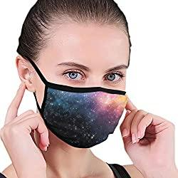 Image: Mask, Starry Night Sky Unisex Facial Masks Washable Reusable Mouth Mask Fashion Design