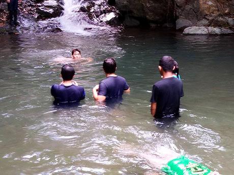 waterfall dipping
