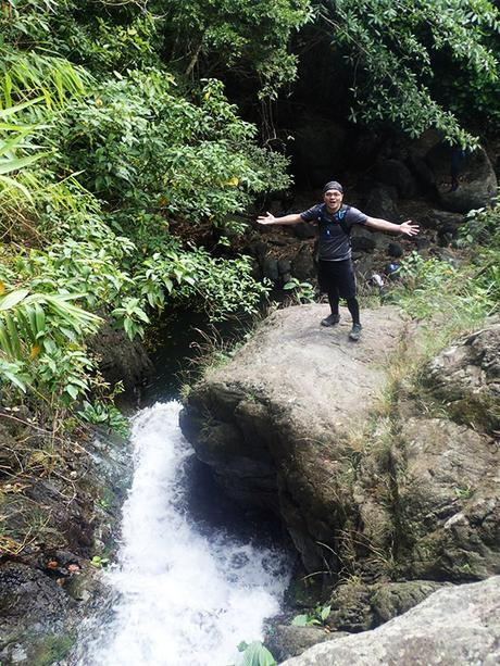 Luis at a waterfall cliff