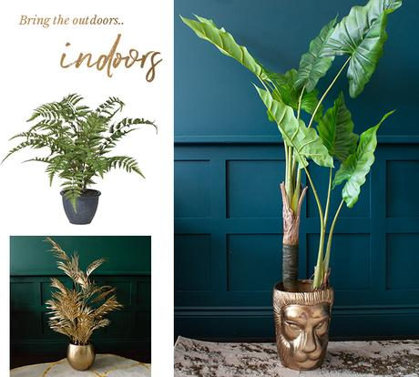 Treat yourself to a new plant or two, to bring a little piece of the outdoors indoors.