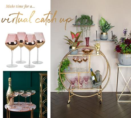 Make time for a virtual catch up and pretend you're in a swanky bar with your very own drinks trolley!