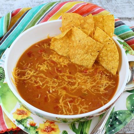 Three-Ingredient Refried Bean Soup
