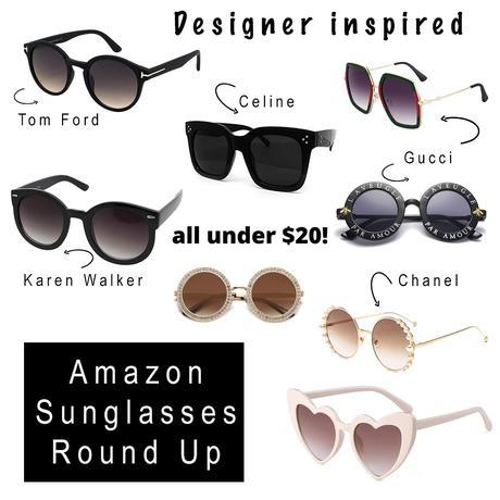 Designer inspired sunglasses on Amazon