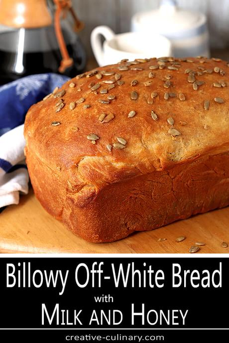 Billowy Off-White Bread with Honey