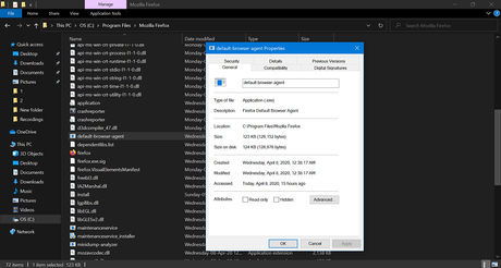 How to Disable Default Browser Agent in Firefox v75