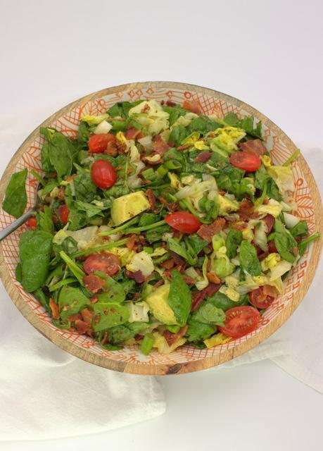 Wilted Spinach Salad with Bacon and Avocado #ImprovCooking