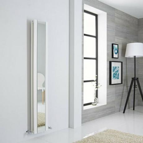 The Milano Icon - White Vertical Mirrored Designer Radiator
