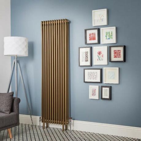 The Milano Windsor - Metallic Bronze Vertical Traditional Column Radiator (Triple Column)
