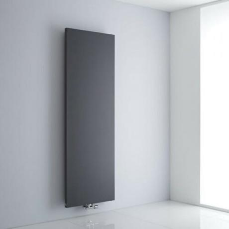 The Milano Riso - Anthracite Flat Panel Vertical Designer Radiator