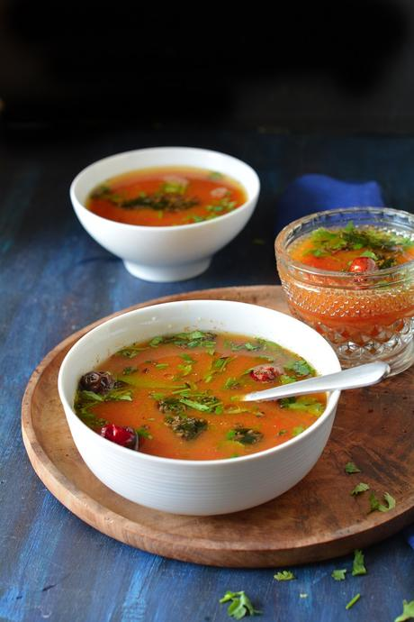 Tomato Rasam Recipe, How To Make Tomato Rasam,Tomato Charu