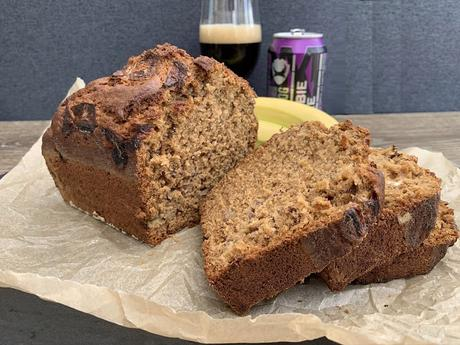 Zombie Cake Banana Bread - infused with a chocolatey porter