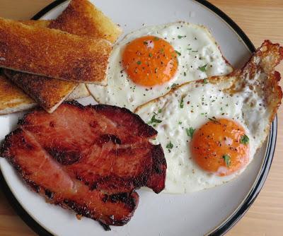 Proper Fried Ham & Eggs