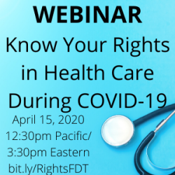 Webinar – Know Your Rights in Health Care During COVID-19 For Fat, Disabled, and Trans People