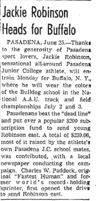 Jackie Robinson, track star