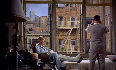 James Stewart and Wendell Corey in Rear Window (1954)