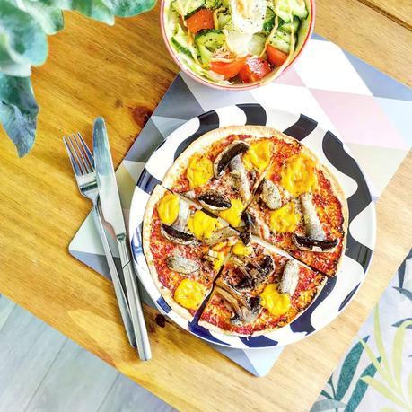 Recipe   Simple Mushroom Tortilla Pizza