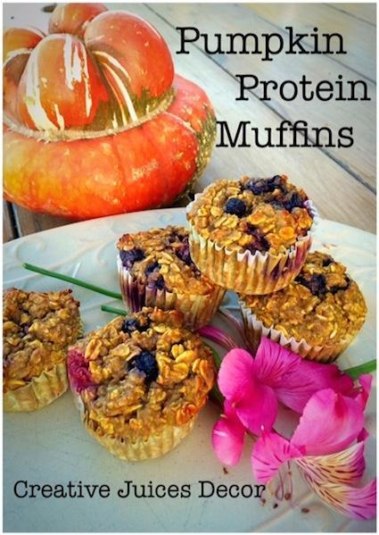 Healthy Pumpkin Protein Muffins