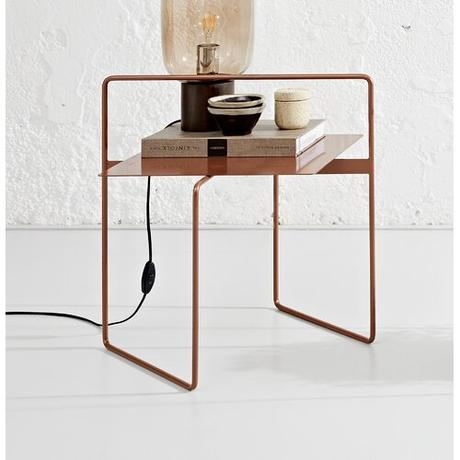 Maciel Side Table Ebern Designs Colour: Metallic copper