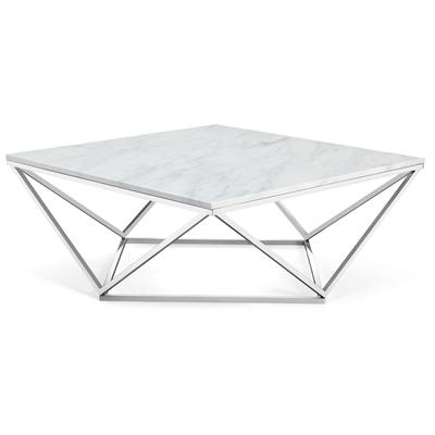 244-C Skyler Chrome Coffee Table - 36 x 36 x 14.5 in.