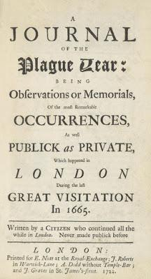 A Report on Daniel Defoe's Journal of the Plague Year (1722)