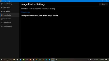 Windows 10 Powertoys Image Resizer settings