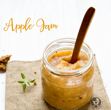 Homemade Cinnamon Apple Jam without pectin for babies and toddlers