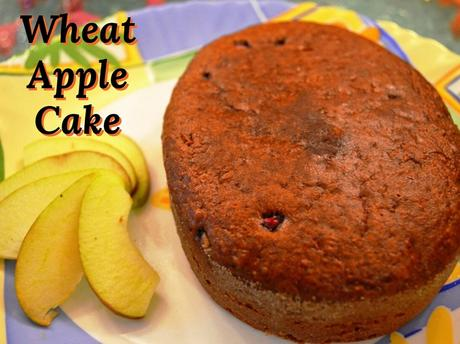 Eggless apple cake