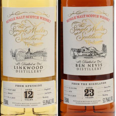 The Single Malts of Scotland, Round One: Linkwood 12 YO, Cask #804447 and Ben Nevis 23 YO, Cask #1479
