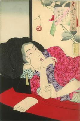 Looking Sleepy by Tsukioka Yoshitoshiby NinaI've heard a ...