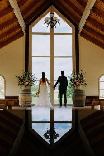 yarra valley elegant vineyard wedding altar groom bride rick liston