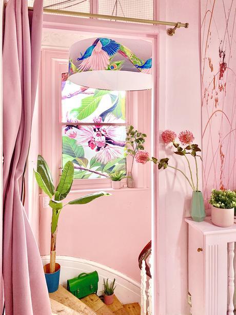Anna Jacobs house tour - pink hallway
