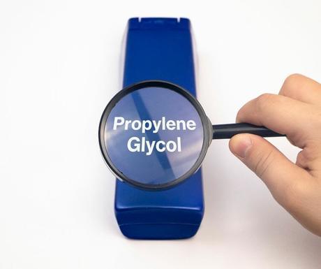 propylene glycol under a magnifying glass