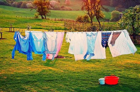 Clothesline dry cothes