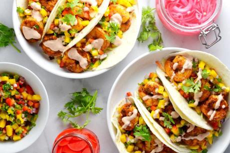 Grilled Shrimp Tacos with Mango Salsa