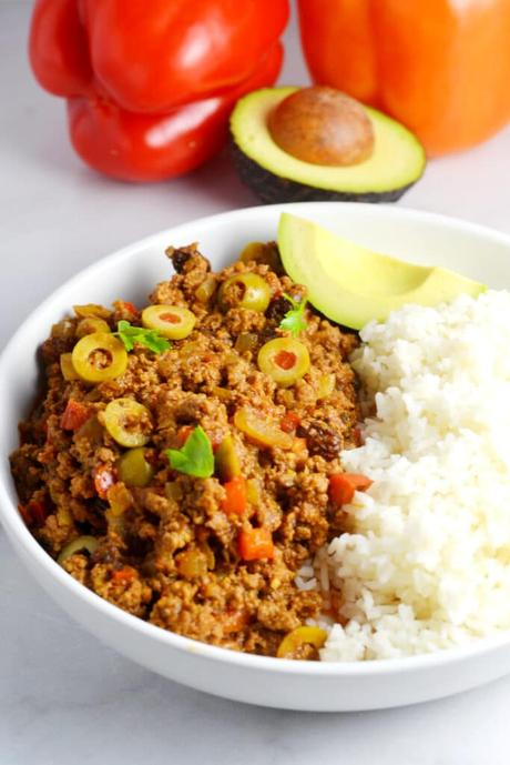 Cuban-Style Picadillo (Stewed Ground Beef)