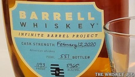 Barrell Whiskey Infinite Barrel Feb 12 2020 Label