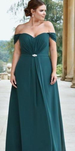 mother of the bride dresses for plus size off the shoulder green sweetheart truebride