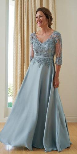 mother of the bride dresses a line with three quote sleeves lace v nekline jasmine