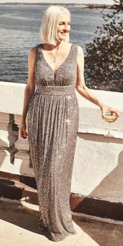 mother of the bride dresses long sequins v neckline for summer davidsbridal